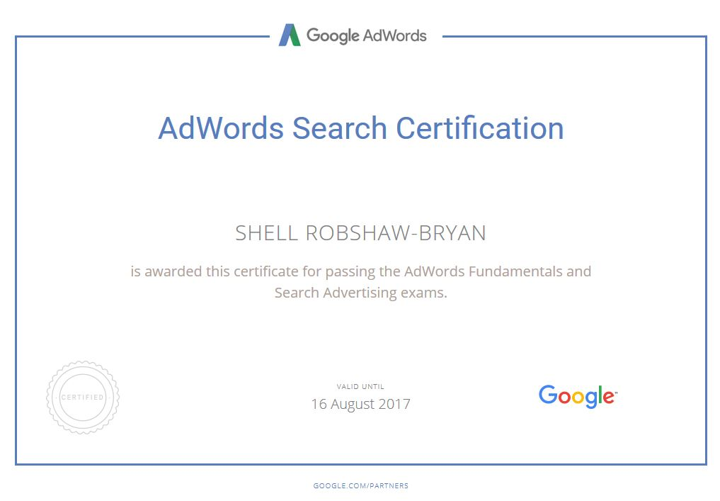 Shell 2016-2017 Google AdWords Certification
