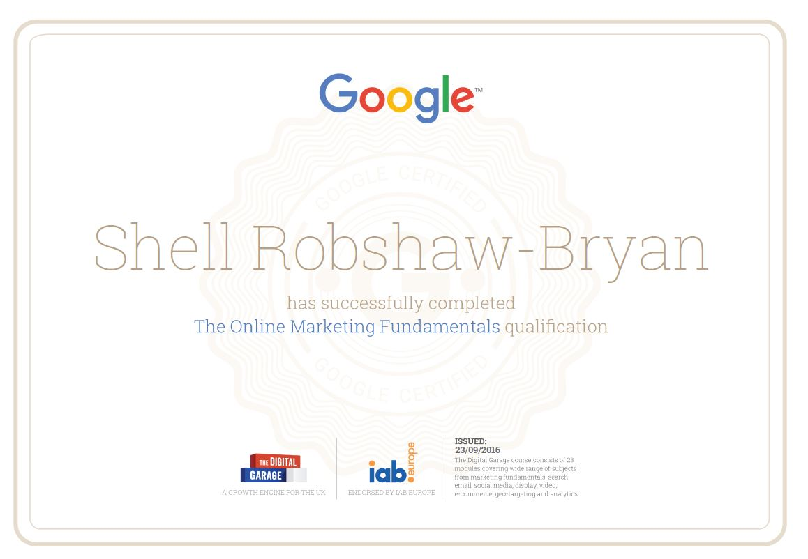 Google marketing certification