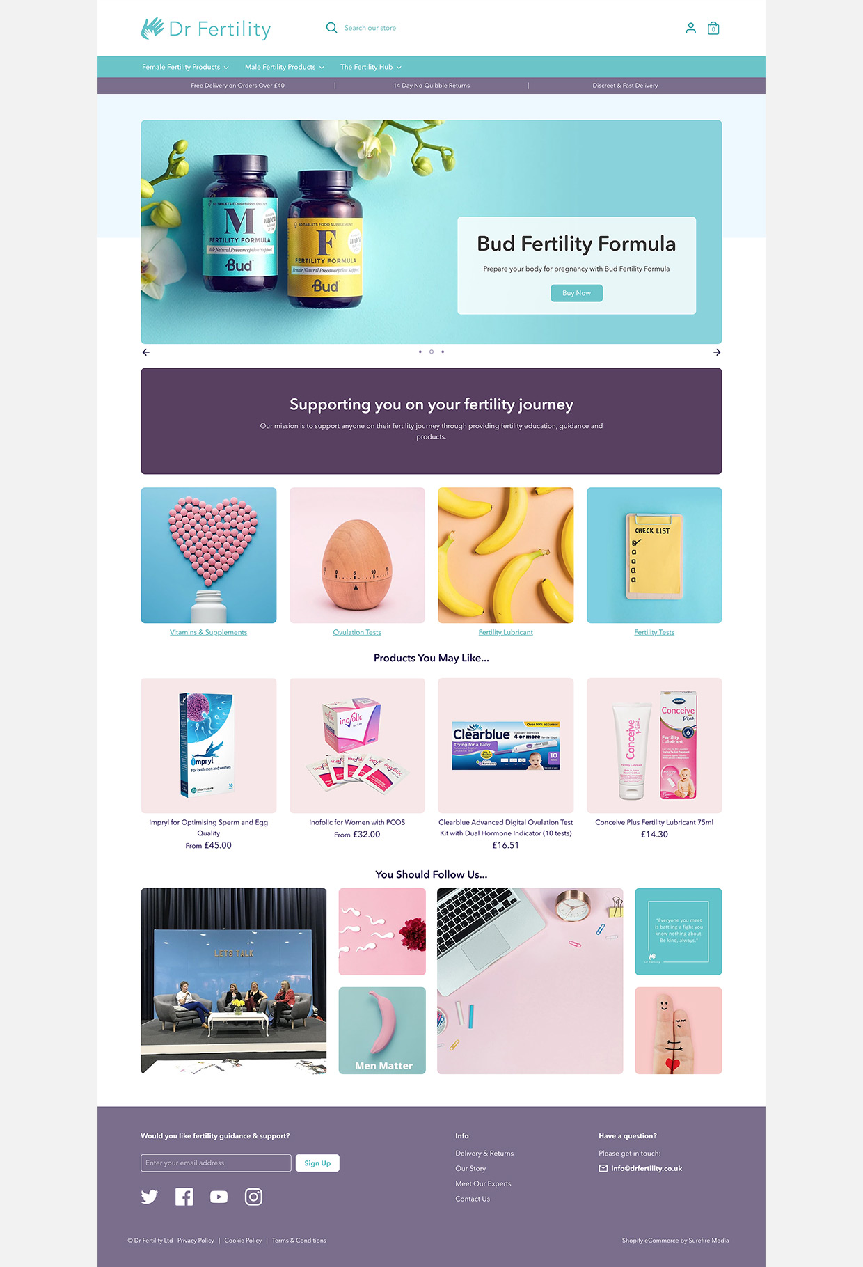 Dr Fertility Homepage