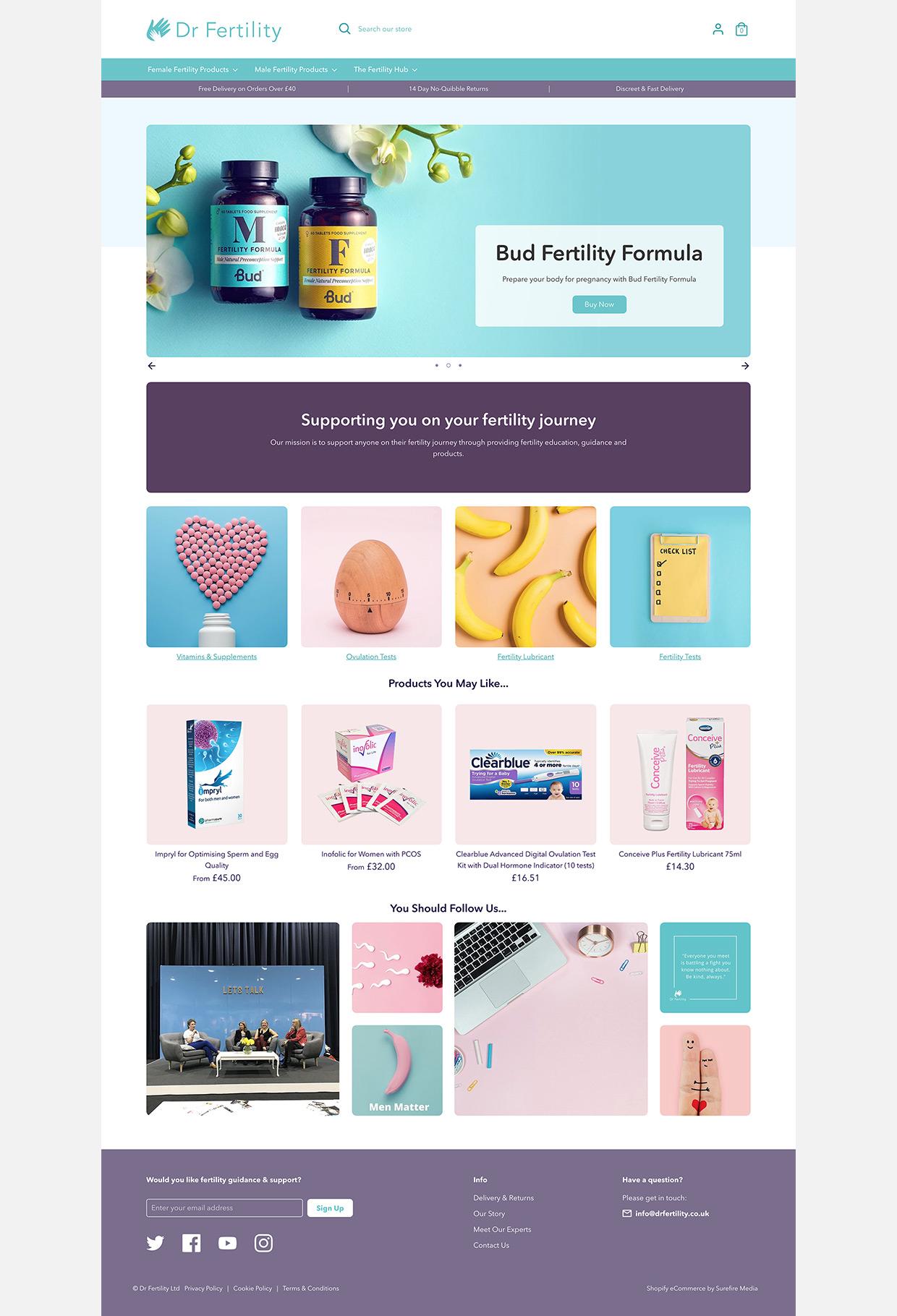 Dr Fertility Homepage