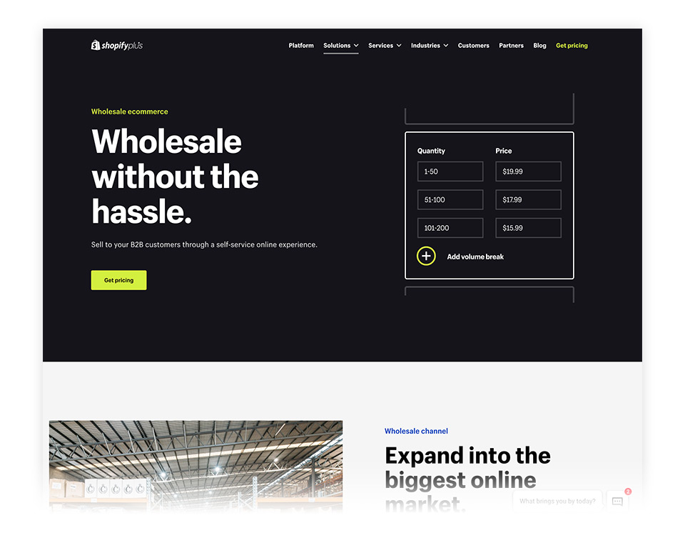 Shopify Plus Wholesale